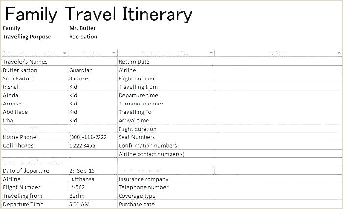Google Sheets Travel Itinerary Template Group Travel Itinerary Template Excel tour Pdf