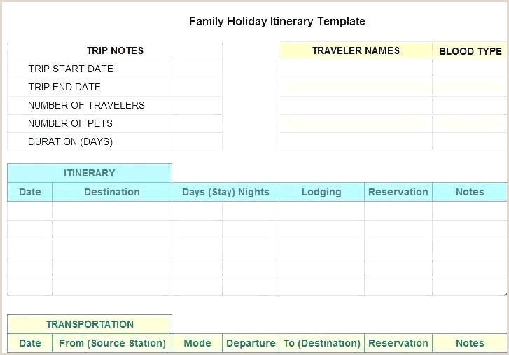 Google Sheets Travel Itinerary Template Travel Planner Template