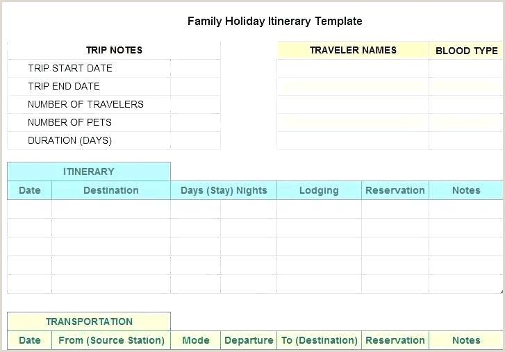 travel planner template