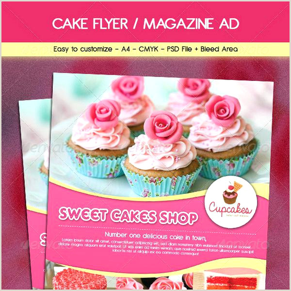 Cake Brochure Template Free Download Best Bakery Grand
