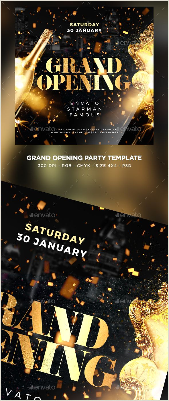 Grand Opening Flyer Template PSD Flyer Templates