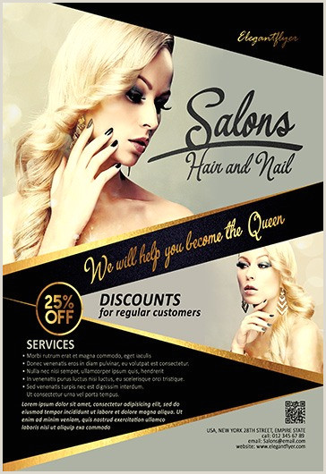 Grand Opening Flyer Psd Hair and Nail Salons – Flyer Psd Template