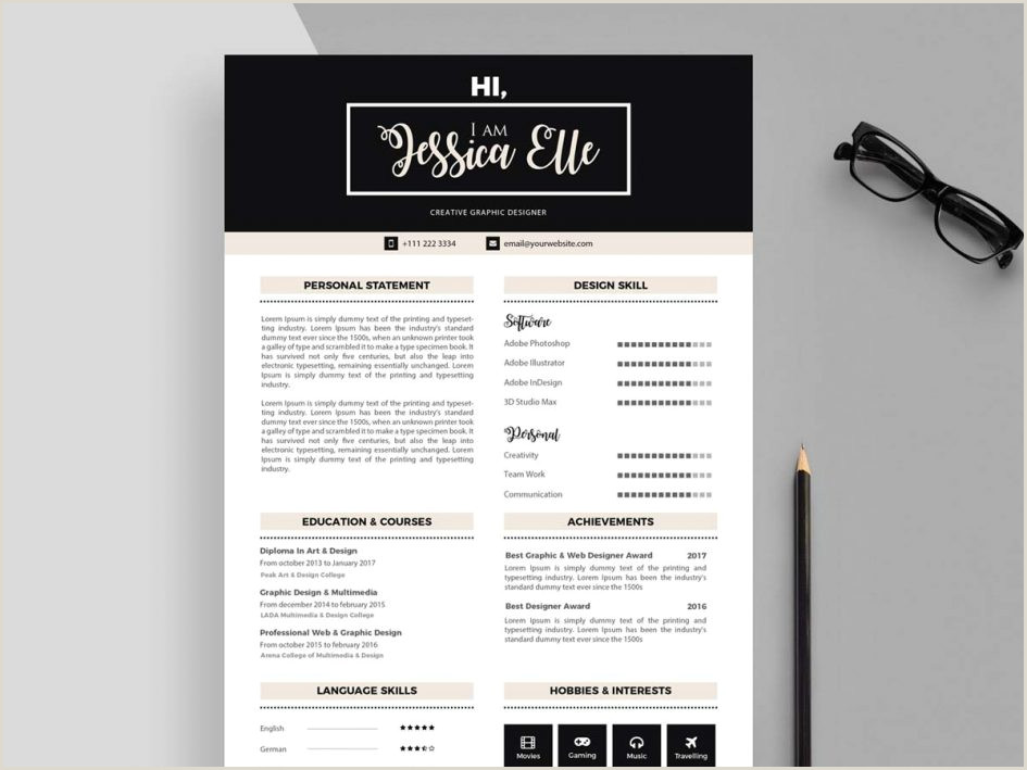 Template graphic designer cv template free