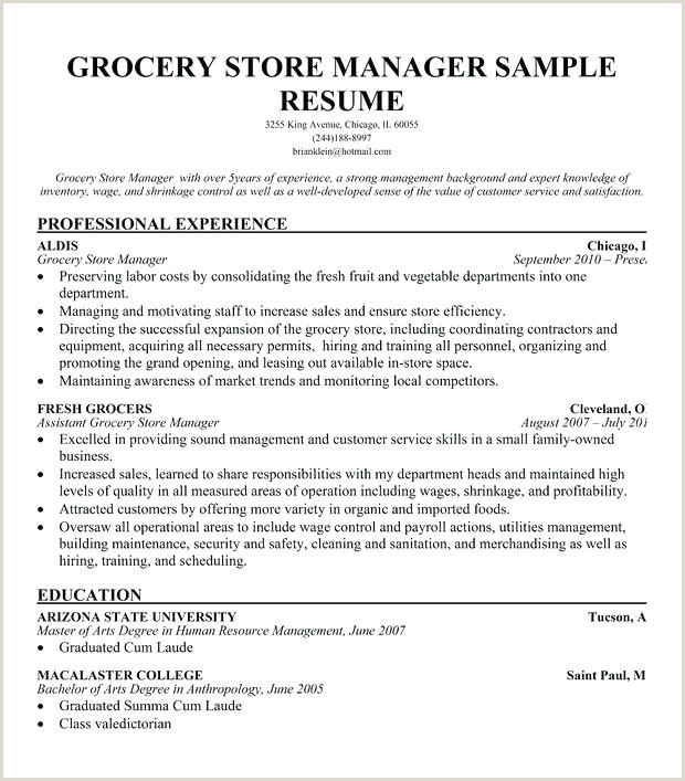 supermarket manager resume – emelcotest