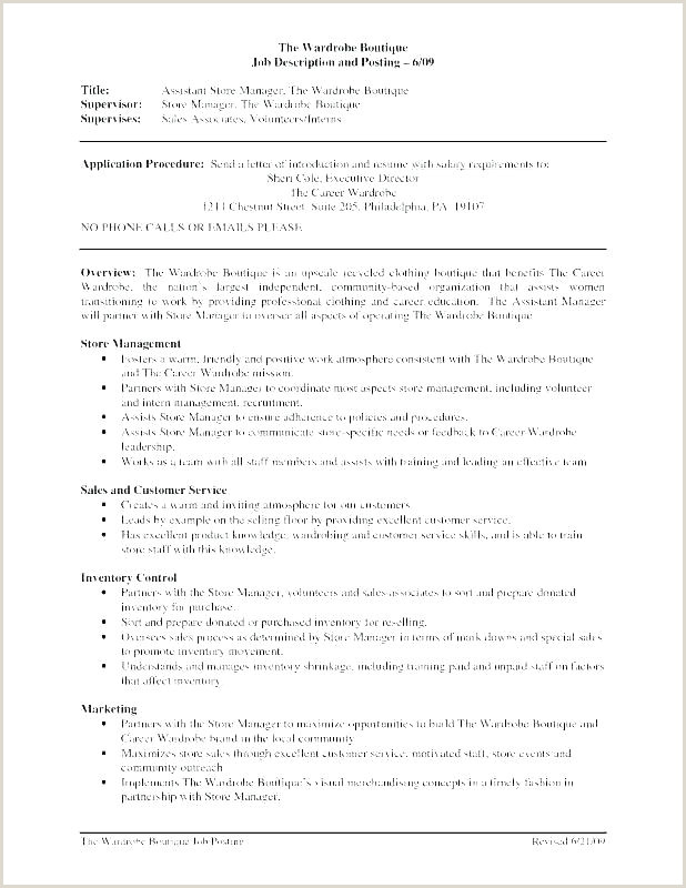 Grocery Store Manager Resume Thrift Store Manager Sample Resume – Podarki