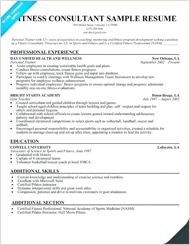 fitness instructor resume sample – growthnotes