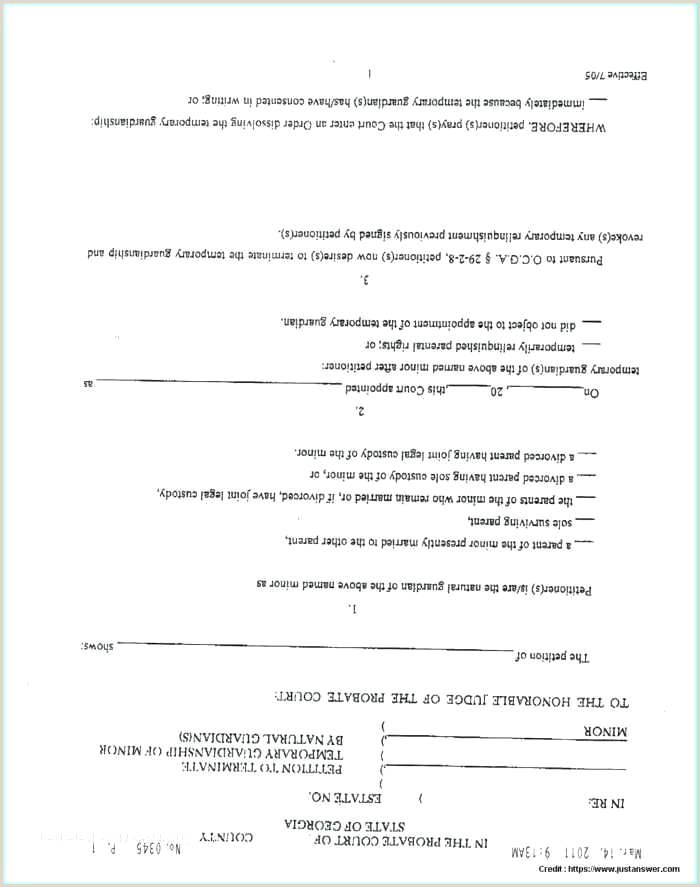 Guardianship Letter for School Enrollment Divorce forms with Children Beautiful Temporary Custody Free