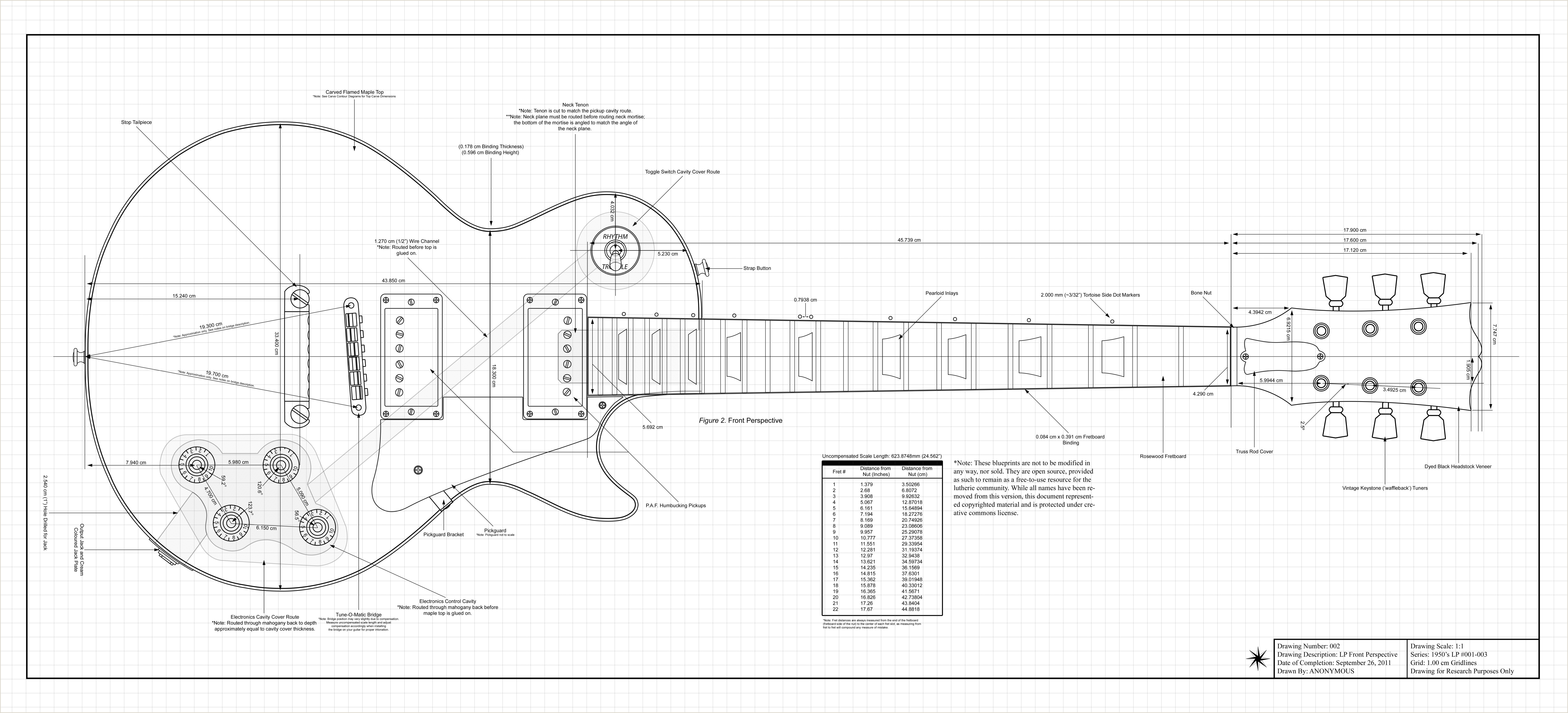 Guitar Neck Template Pdf Gibson Les Paul Dimensions 6600—3000