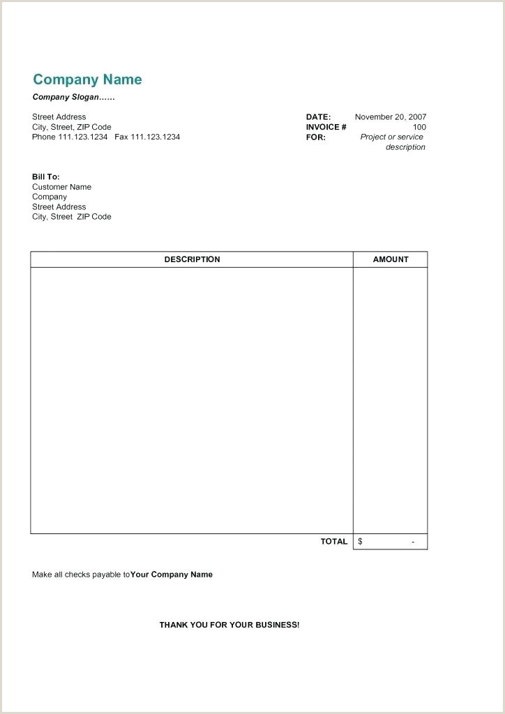 Gym Bill format Office 2007 Invoice Template