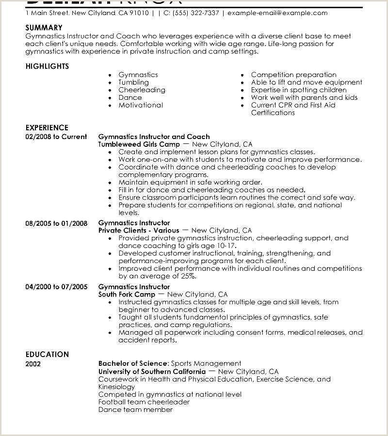 Personal Trainer Job Description Resume Examples 58 Athletic