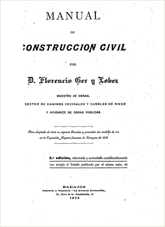 1915 Construccion civil Fl Ger y Lobez by Arquitectura