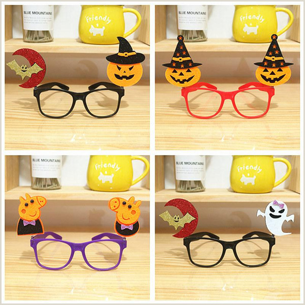 Halloween Frames Free Halloween Glasses Frame Party Decoration Prop Ghost Festival Creative Personality Strange Pumpkin Bat Children toy Glasses Send Virtual Gift Card