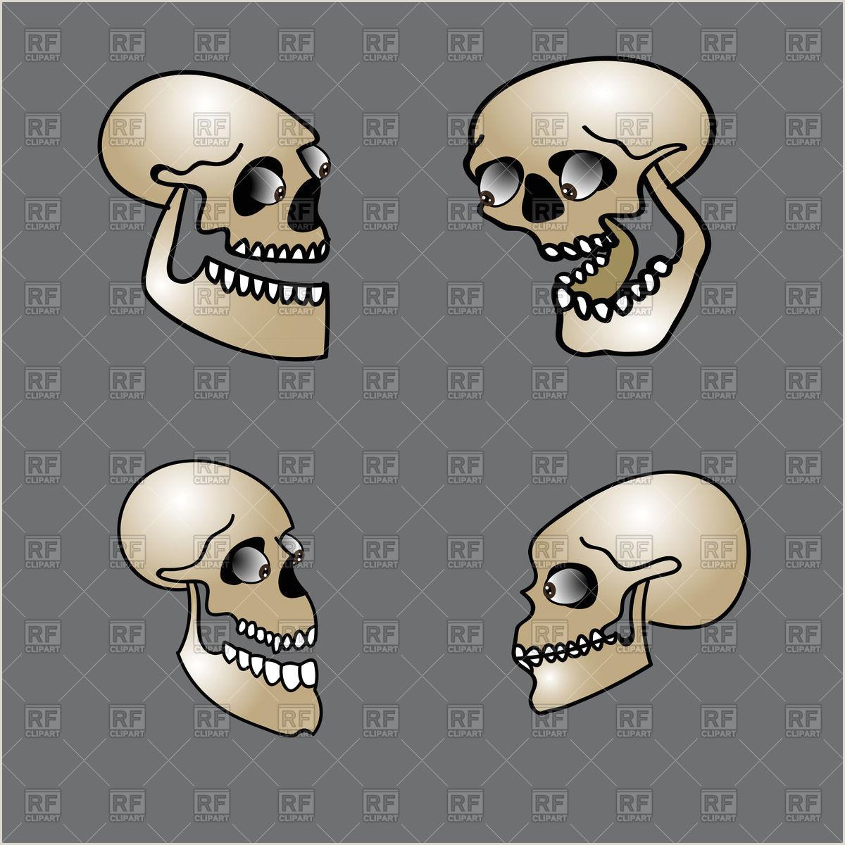 Happy Halloween poster scary rabbit skull on black