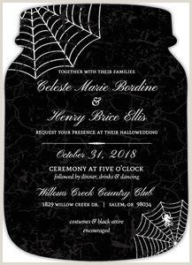Elegant Spider Web Halloween Wedding Invitation