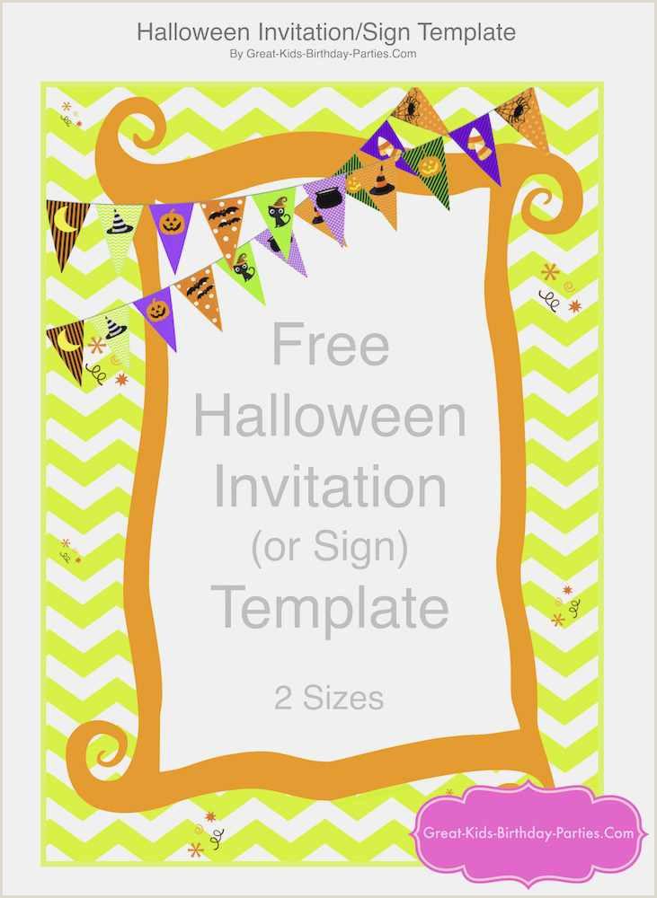 Halloween Invitations Templates Free Download 50 Free Invite Templates Picture