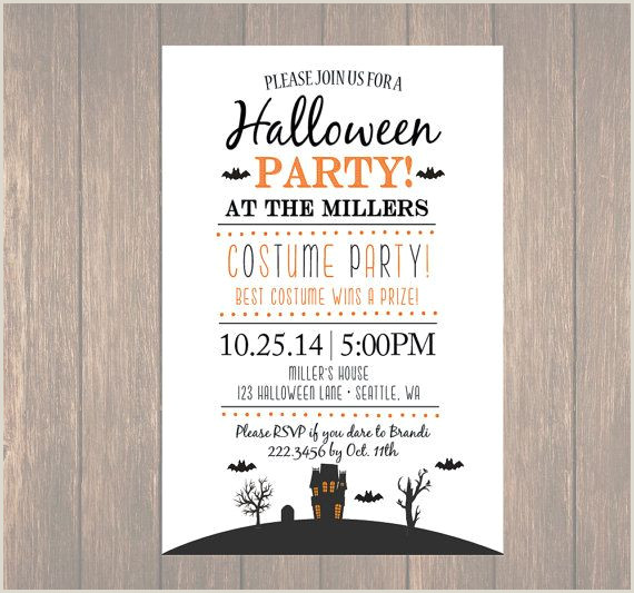 Halloween Potluck Invitation Wording Printable Halloween Invitation Diy Halloween Costume Party
