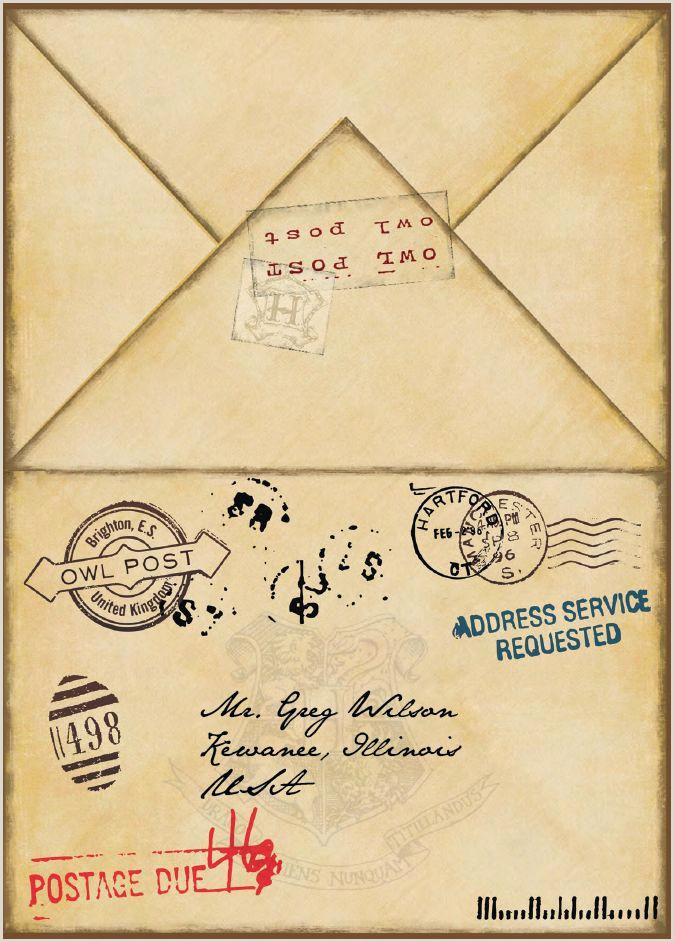 Harry Potter Acceptance Letter Envelope Printable