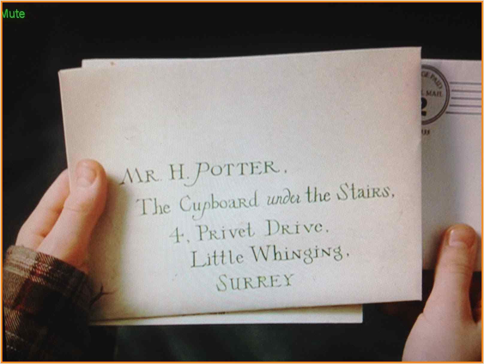 Harry Potter Letter Font Harry Potter Acceptance Letter