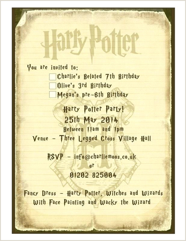 Harry Potter Website Template Invitation Party 7 Politics