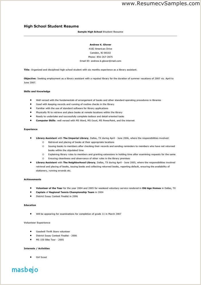 High School Accomplishments Resume Beautiful High School Ac Plishments for Resume