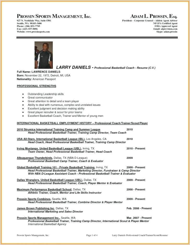 high school coach resume – wikirian