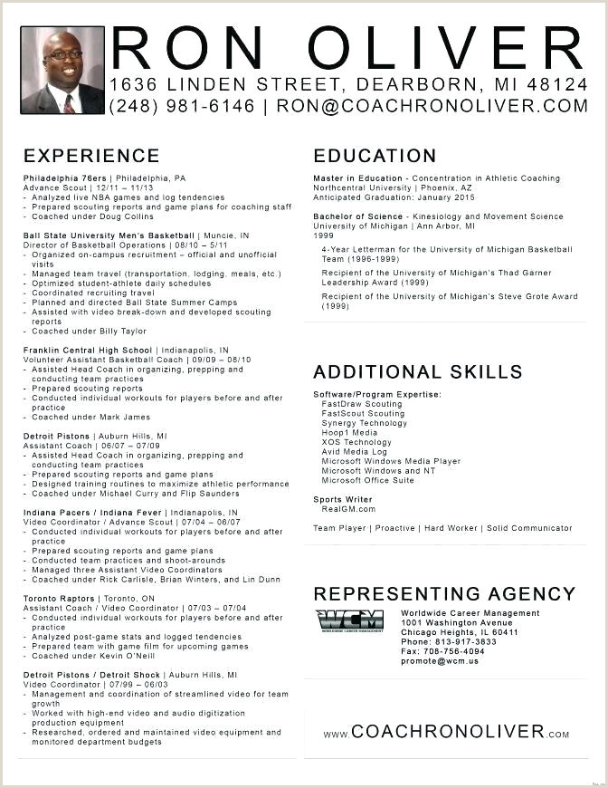 High School Basketball Coach Resume Volleyball Player Resume Template