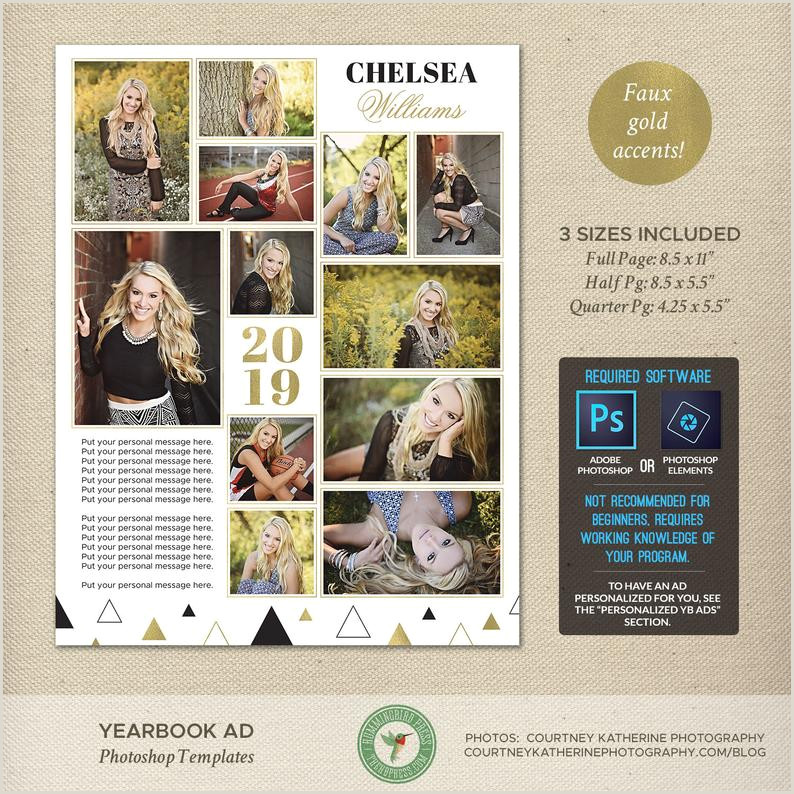 Senior Yearbook Ad shop Templates Graduation Ad High School College Middle School Tribute Ad Dedication Ad Full Page 2019 Y1