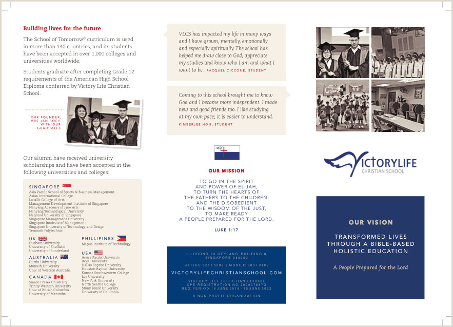 Victory Life Christian School — Brochure