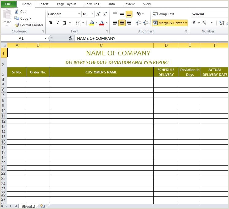 Delivery schedule template excel puter