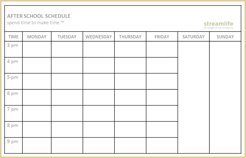 High School Master Schedule Template Excel Study Schedule Template