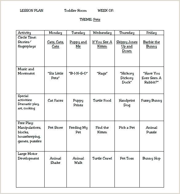High Scope Lesson Plans Creative Curriculum for Preschool Lesson Plan Template