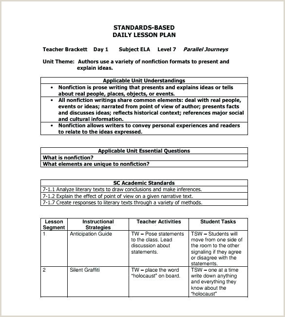High Scope Lesson Plan Template K Daily Elegant Sample Doc