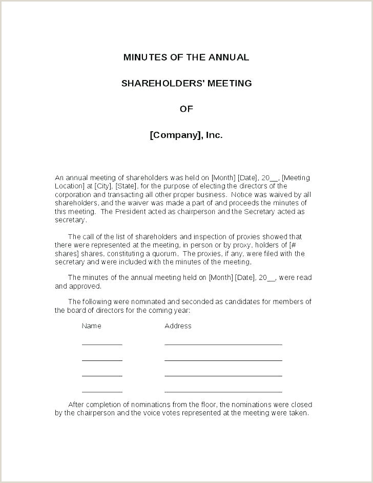 Hoa Proxy form Template Minutes Template Proxy Vote form New Annual Hoa Meeting Word