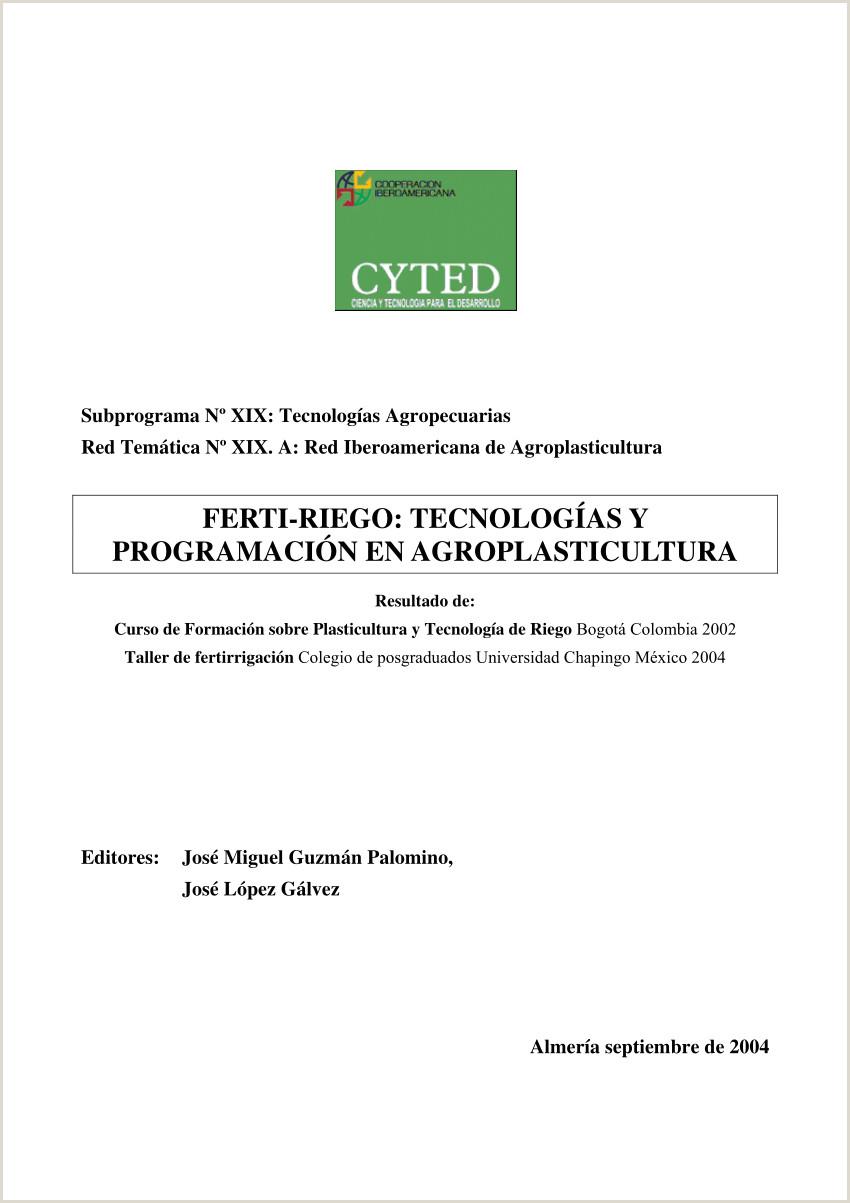 """PDF FERTI RIEGO TECNOLOGAS Y PROGRAMACI""""N EN"""