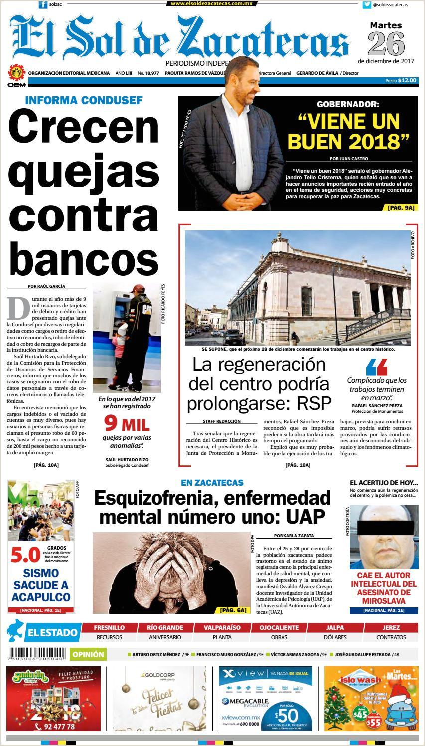El Sol de Zacatecas 26 de diciembre 2017 by El Sol de