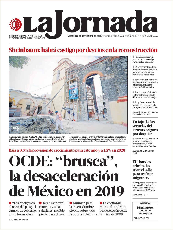 La Jornada 09 20 2019 by La Jornada issuu