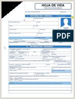 Hoja De Vida forma Minerva 1003 Decreto 1074 Del 26 De Mayo De 2015