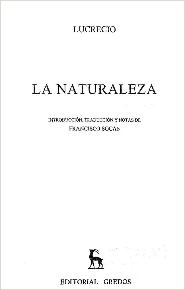 Lucrecio La Naturaleza Seminario Filosofa Antigua UNC