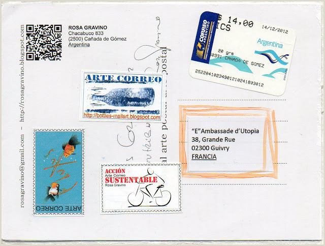Hoja De Vida formato Unico 2018 Insomnies Et Art Postal Recu De Rosa Gravino Argentine