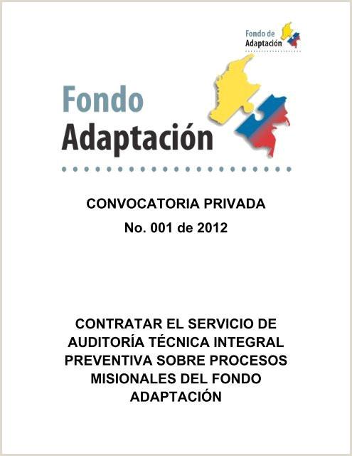 Contratar el servicio de auditora técnica integral Fondo