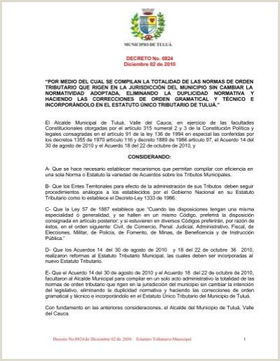 Estatuto Tributario Municipal Tuluƒ¡