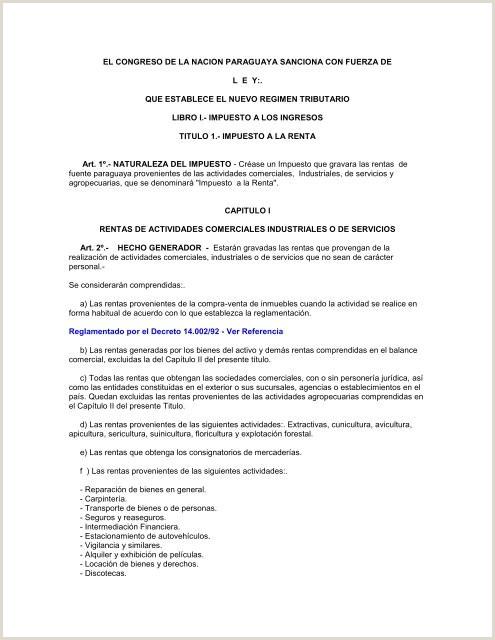 ley 125 que establece el nuevo regimen tributario Centro