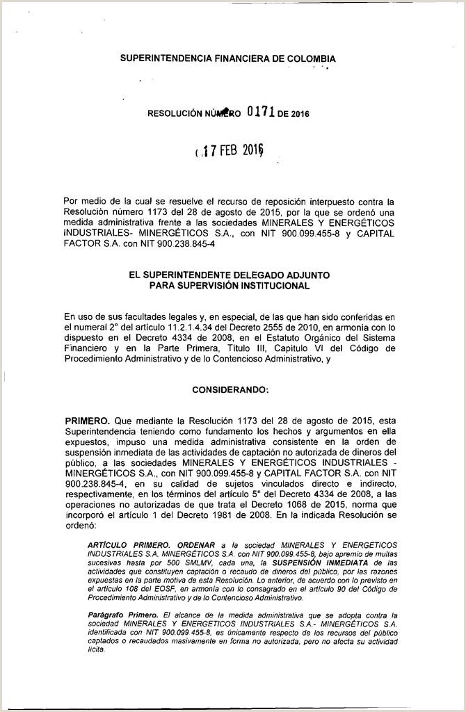 Hoja De Vida formato Unico Declaracion Juramentada 0171 Superintendencia Financiera De Colombia