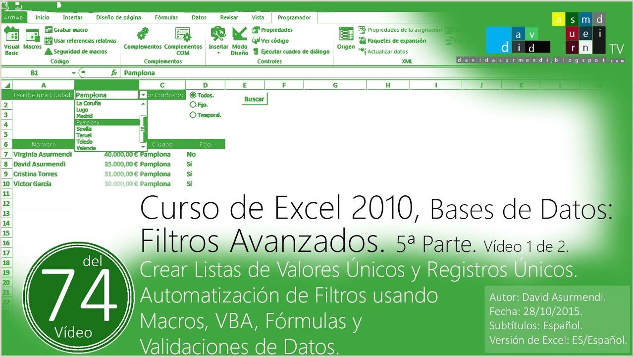 Hoja De Vida formato Unico En Excel 2015