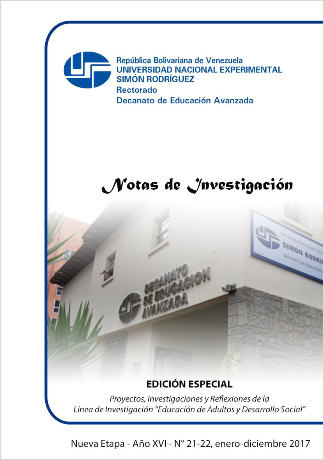 Revista Notas de Investigaci³n 21 y 22 [edici³n especial