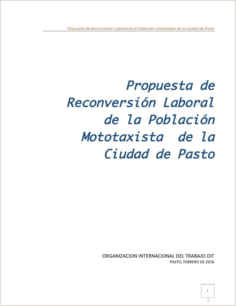 Propuesta de Reconversi³n Laboral de la Poblaci³n