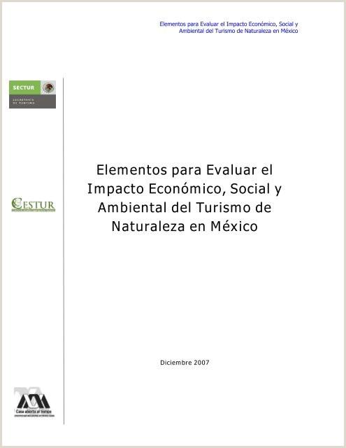Elementos para Evaluar el Impacto Econ³mico Social y
