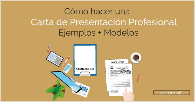 o hacer una Carta de Presentaci³n con Ejemplos Modelos 2018