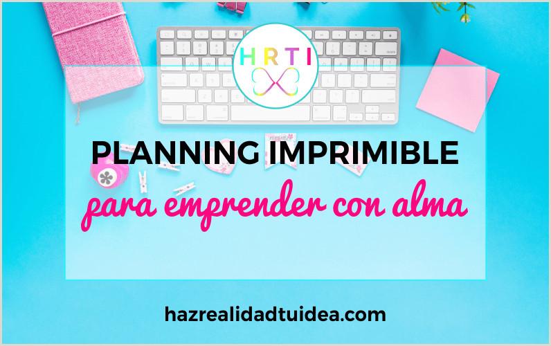 Planificador imprimible Emprendedoras