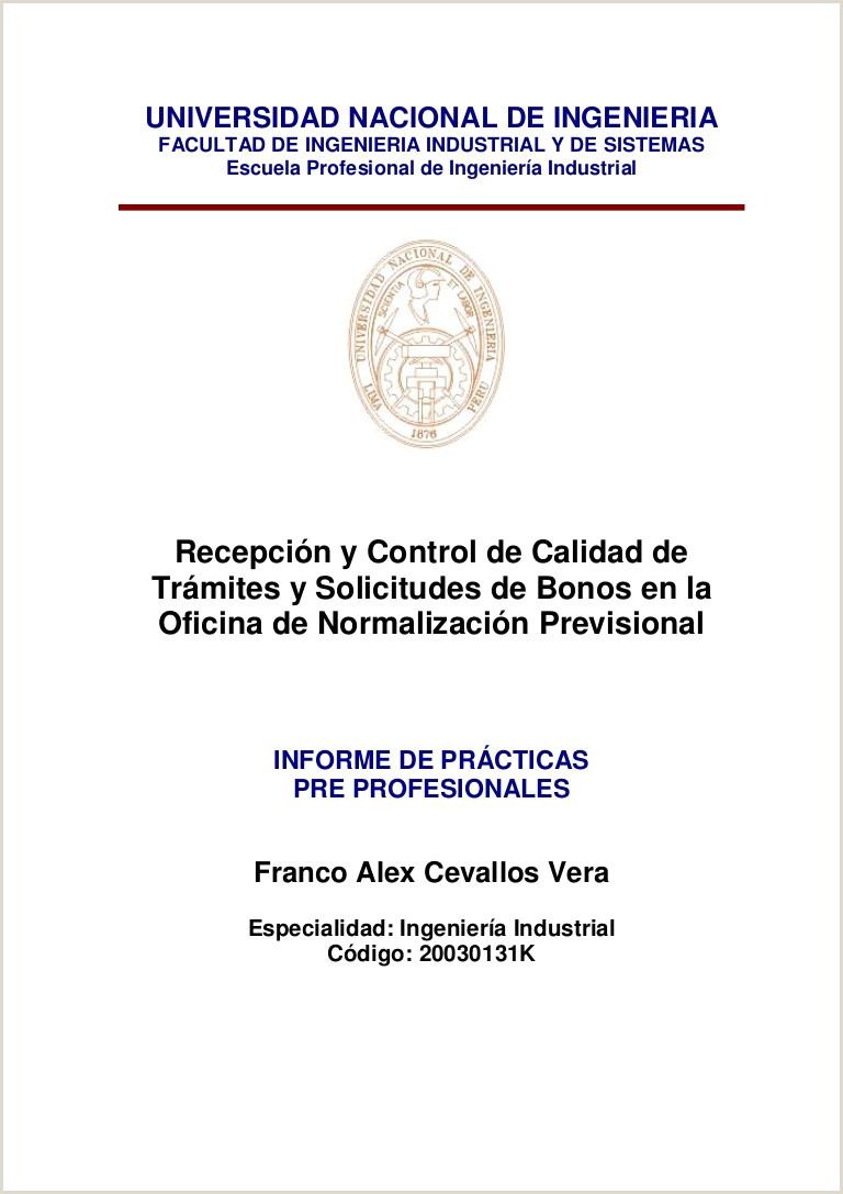 Informe de Prácticas Pre Profesionales Cevallos Vera